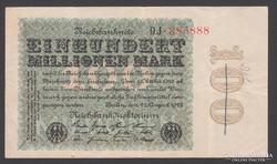 1923. 100 millió Reichsmark.