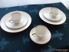 Antik Schönwald fehér arany reggeliző készlet-3 sz