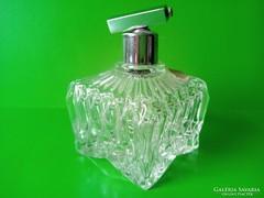 Ólomkristály parfümös üveg jelzett, papír cimkével