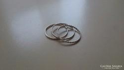 Ezüst karikagyűrűk 3 db.