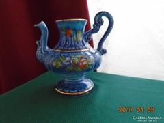 Veritable bleu de Four kézzel festett francia kancsó váza