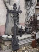 Öntöttvas kápolna kereszt feszület korpusz 1800 as