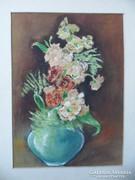 Akvarell mezei virág csendélet keret nélkül
