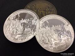 Millecentenárium ezüst, bronz érem-szett