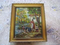 Festmény, olaj-farost , Erdélyi,  szignóval