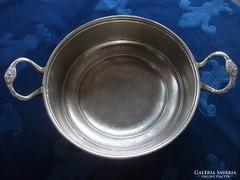 Szignós művészi bronz edény-28 cm-680 g