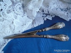 Antique silver plate English glove extender.
