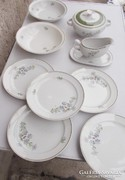 Nagyon szép 9 részes Kaestner Saxonia porcelán szett