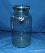 Antik zöldes kék huta üveg 4 literes