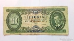 1969 évi 10.-Ft-os  papirpénz