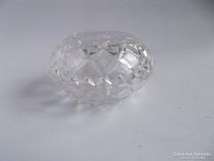 Kör alakú kis kristály ékszertartó doboz