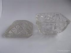 Üveg kristály ékszertartó doboz
