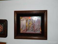 Tűzzománc falikép : Rácz Gábor tűzzománc alkotása