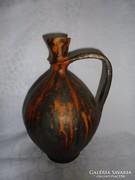 Szignált füles kerámia váza