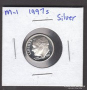 1997 S. USA Roosevelt Dime, Proof. ezüst (5)