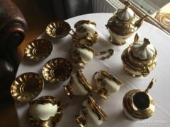 Antik arany porcelán teáskészlet