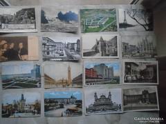 D146290   16 db régi külföldi képeslap 1900-1960