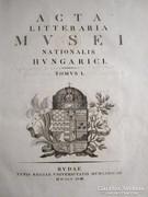 ACTA LITTERARIA MUSEI NATIONALIS HUNGARICI BUDA 1818 Unicus