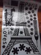 Új-Eiffel-torony Poszter-falmatrica-faldekoráció-plakát-kép 90x60 cm többféle