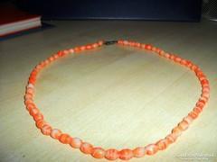 Retro Narancs cirmos Gyöngy Nyakék
