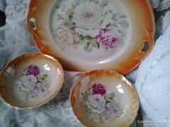 Viktória porcelán kínáló és 2 db tálkája