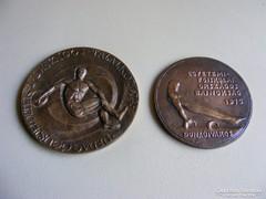 2 db retro bronz plakett 1972 - 1975