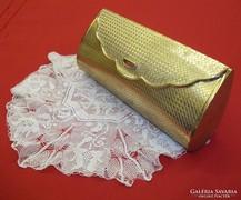 Fém pipere táska , jelzett japán ritkaság , belső tükörrel