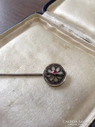 Antik rubin és gyémántköves arany-ezüst dísztű