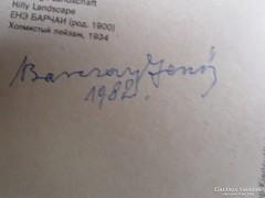 EREDETI BARCSAY JENŐ SZIGNÓ ALÁIRÁS A FESTŐMŰVÉSZ 1982