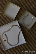 Ezüst nyaklánc és karkötő