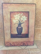 Fa falikép, virággal (P)