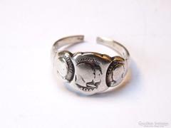 1914-es világháborús ezüst gyűrű,F.J,