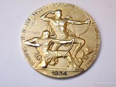 IV.Ker. Bulcsu Polg. Lövész Egyesület ezüst érme 1934