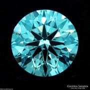 0,75 ct kék moissanit, azaz labor gyémánt Indiából