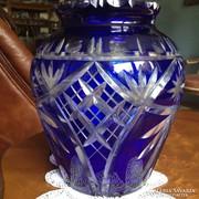 Ólomkristály váza - kék színben