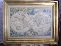 Díszes régi világtérkép