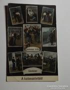 Katonai képeslap a régi katona életről