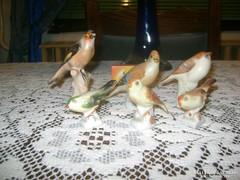 Aquincumi madár figura - hat darab - együtt eladó