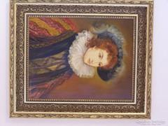 Spanyol hölgy portré Kránitz M