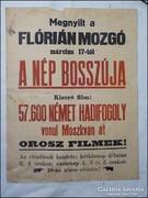 Flórián Mozgó plakát , Nép bosszúja 57.600 Német hadifogoly