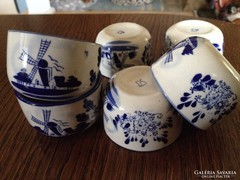 Holland mintás szakés / kávés csésze  - 6 db
