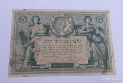 5 forint/gulden 1881. NAGYON SZÉP!! RITKA!