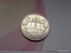 1912 magyar ezüst 2 korona keresett érme,szép db