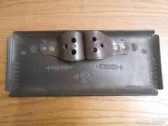 Iparművészeti bőr/bőrdíszmű asztaldísz/tolltartó 35*15*5 cm