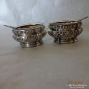 Francia  ezüst fűszertartó pár