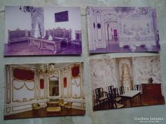 D146770 FERTŐD Esterházy kastély 4 db. képeslap MTI foto