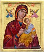 Passiós Mária ikon kisdeddel