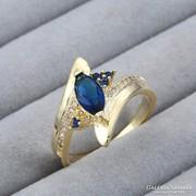 Kék cirkónia köves gyűrű 7-es ÚJ