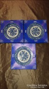 Angol porcelán kistányér ( 3 db ) dobozában!!