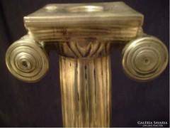 Ion oszlopos gyertyatartó ritkaság  32,5 cm ezüstözött